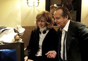 Jack Nicholson and director Nancy Meyers on the set of Columbia's Something's Gotta Give