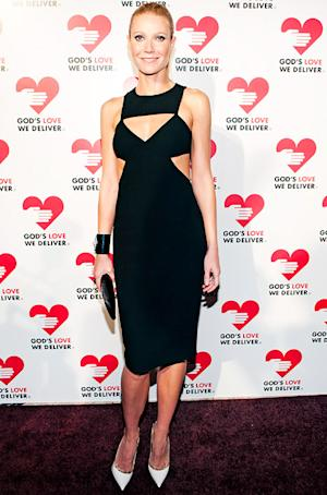 PIC: Gwyneth Paltrow Flashes Cleavage in Daring Cut-Out Dress