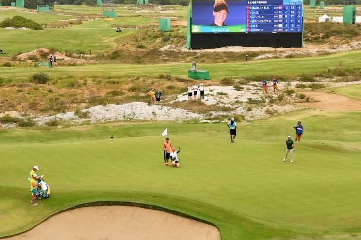 This is what the Olympic golf course looked like in August. (Getty Images)