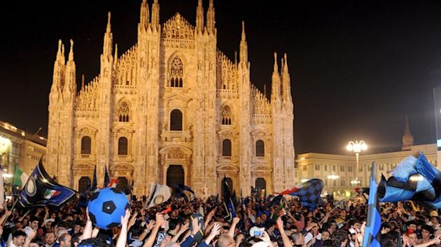 FOOTBALL - TIFOSI INTER - DUOMO MILANO - SCUDETTO INTER