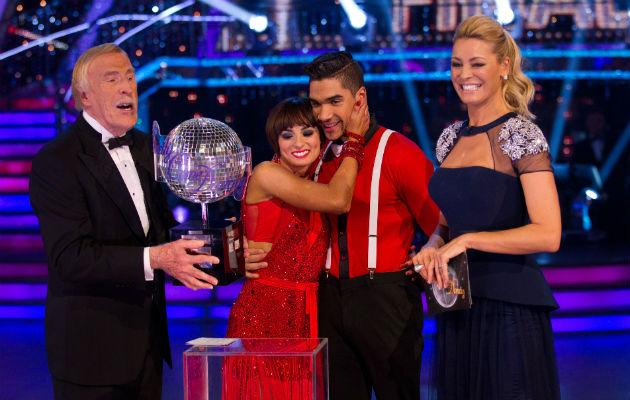Louis and Flavia... taking home the Strictly title in front of 14 million (Copyright: BBC)