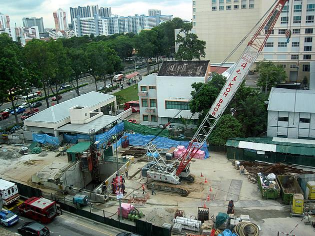 Scaffolding collapses at Downtown Line construction site
