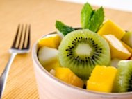 Fruit salad with honey