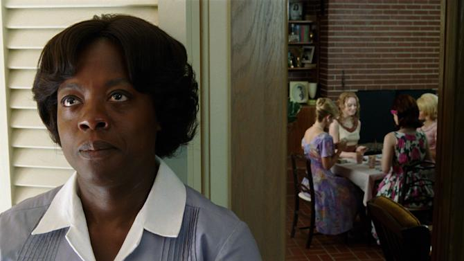 """In this film publicity image released by Disney, Viola Davis is shown in a scene from """"The Help.""""   The film about black maids who speak out against their white employers during the civil rights movement leads all nominees for NAACP Image Awards with eight bids, including best picture. Viola Davis, Emma Stone, Octavia Spencer, Cicely Tyson and Bryce Dallas Howard are up for acting awards, and Tate Taylor is nominated for outstanding writing and directing. The 43rd NAACP Image Awards will be held on Friday, Feb. 17, 2012. (AP Photo/Disney, Dale Robinette)"""