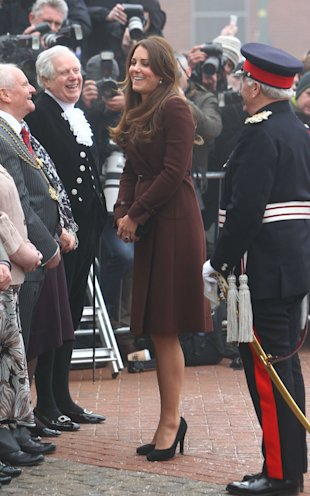 Pregnant Kate Middleton Shows Of Growing Baby Bump As She Arrives In Grimsby