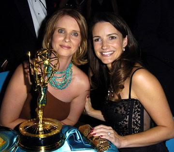 Cynthia Nixon and Kristin Davis The 56th Annual Primetime Emmy Awards - Governors Ball