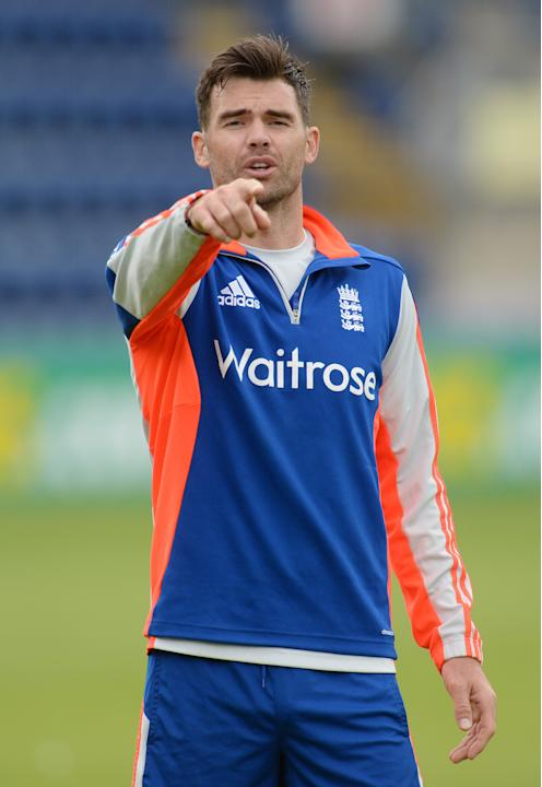 CRIC: England's James Anderson during a training session