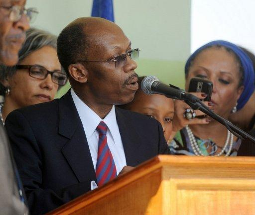 Haitian ex-president Jean-Bertrand Aristide, pictured here on March 18, 2011, answered prosecutors' questions Wednesday in a landmark investigation for the country over charges he used homeless children to get donations.