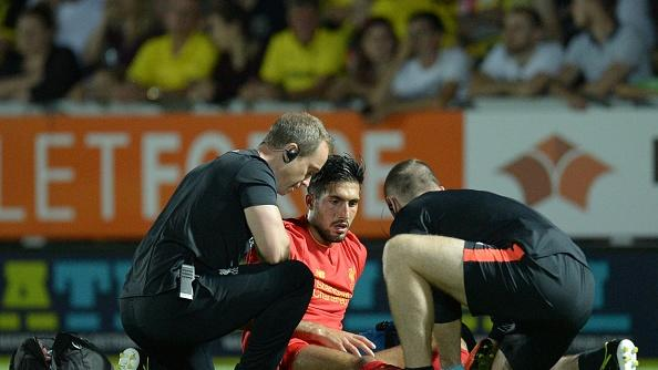 Emre Can suffers ankle injury during Liverpool's EFL Cup win over Burton Albion