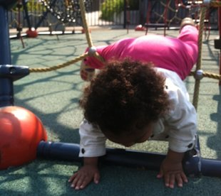 Why I let my toddler take risks