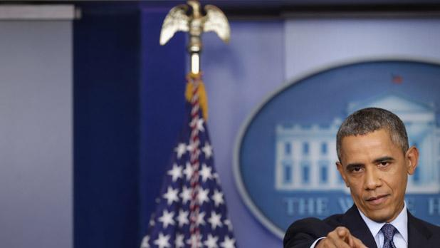 President Obama Shuns TV Reporters During Shutdown Press Conference