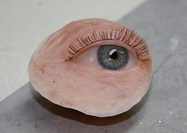 This disembodied eye looks like a special effect - but it's actually a prosthetic made to order in a British hospital.