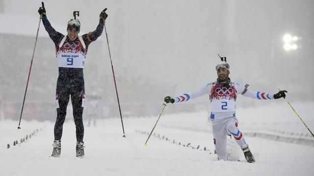 Biathlon - Svendsen wins men's 15km mass start in photo-finish