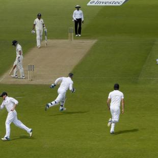 1st Test Live: England double strike enlivens match