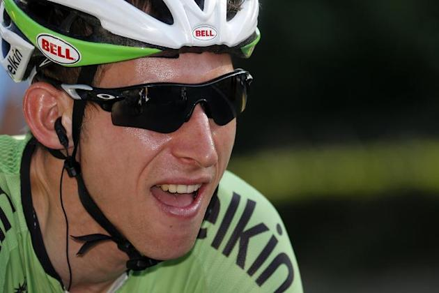Netherland's Bauke Mollema, seen at the start of the 133.5 km twenty-first and last stage of the 100th edition of the Tour de France cycling race, between Versailles and Paris, on July 21, 2013