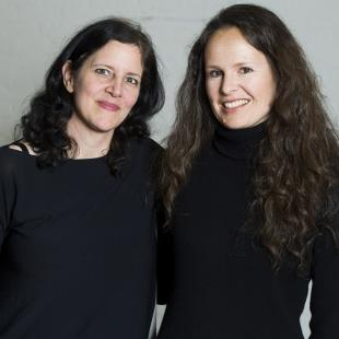 "This April 16, 2014 photo shows Laura Poitras, left, and Johanna Hamilton in New York to promote their documentary film ""1971,"" premiering Friday at the Tribeca Film Festival. (Photo by Charles Sykes/Invision/AP)"
