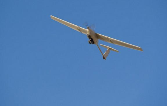 A Stalker drone flown by the U.S. military could get its battery recharged by laser power wirelessly.
