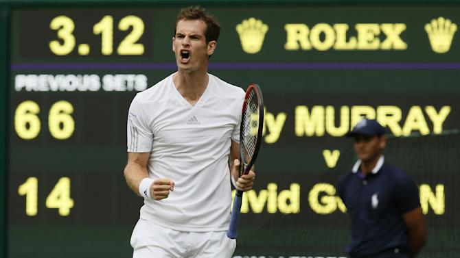 Wimbledon - Murray starts defence with routine win over Goffin