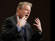 Al Gore, Former Vice President and Current TV Chairman and Co-Founder participates in the Current TV portion of the Television Critics Association Winter Press Tour in Pasadena , Calif. on Friday, Jan. 13, 2012. (AP Photo/Danny Moloshok)