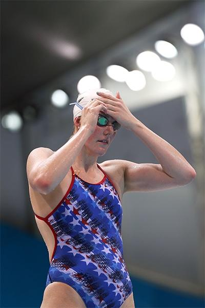 Missy Franklin training in London