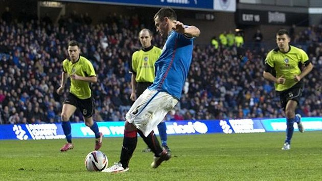 Lee McCulloch fires Rangers ahead from the penalty spot