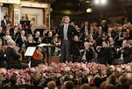 Austrian conducter Franz Welser-Moest and the Vienna Philharmonic Orchestra perform the traditional New Years Concert on January 1, 2013 at the music association in Vienna, Austria. The Vienna Philharmonic Orchestra announced Thursday it will perform a series of concerts in Toronto and New York starting later this month