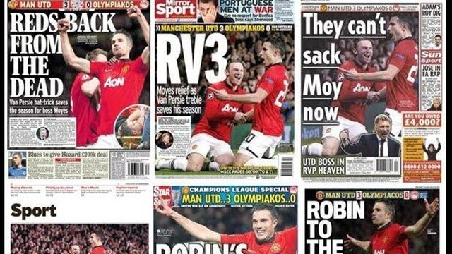 Champions League - Paper Round: Robin rescues Moyes