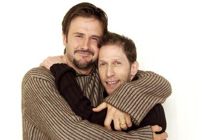David Arquette and Tim Blake Nelson A Foreign Affair Yahoo! Movies Portrait Studio Sundance Film Festival 1/23/2003