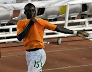 Ivory Coast's Max Gradel celebrates his goal against Senegal during their African Cup of Nations qualification match at the Felix Houphouet-Boigny stadium in Abidjan. Ivory Coast came from behind twice to defeat Senegal 4-2 in a 2013 Africa Cup of Nations qualifier that lived up to its match-of-the-day billing
