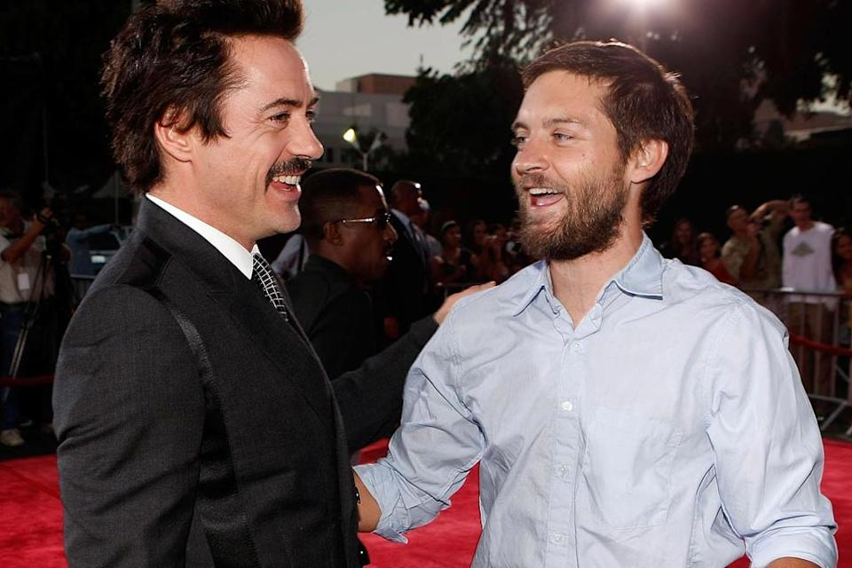 Tropic Thunder LA Premiere 2008 Robert Downey Jr Tobey Maguire
