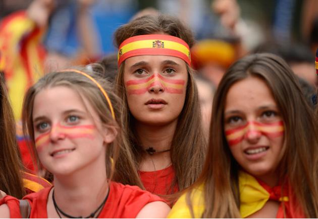 Supporters Of The Spanish National Football Team React While Watching The Euro 2012 Championships Football Match AFP/Getty Images