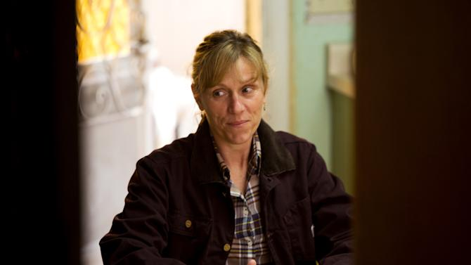 """This undated publicity film image provided by Focus Features shows Frances McDormand starring as Sue Thomason in Gus Van Sant's contemporary drama, """"Promised Land,"""" a Focus Features release. (AP Photo/Focus Features, Scott Green)"""