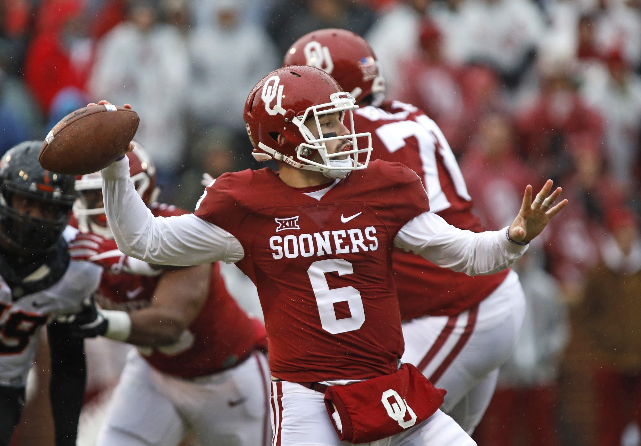 Oklahoma quarterback Baker Mayfield led the nation in passing efficiency. (Getty)