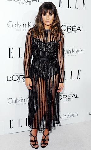 Lea Michele's Sheer Dress-Bodysuit Combo: Love It or Hate It?