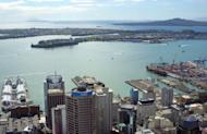 An aerial view of Auckland's harbour, pictured in 2003. New Zealand's inflation rose 0.5 percent in the March quarter, according to the latest official data, a result analysts said meant interest rates were likely to remain on hold in coming months