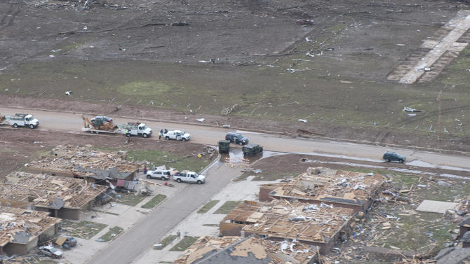 Aerial photos of tornado destruction in Moore, Okla.