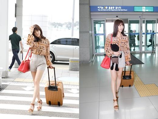Ha Jiwon leaves to Mexico in hot airport fashion