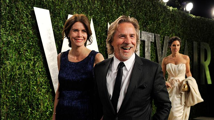 2013 Vanity Fair Oscar Party Hosted By Graydon Carter - Roaming Arrivals: Kelley Phleger and Don Johnson