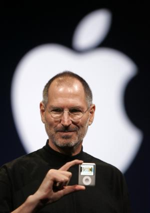 FILE - In this Sept. 5, 2007, file photo, Apple CEO Steve Jobs introduces the Apple Nano in San Francisco. Apple on Wednesday, Oct. 5, 2011 said Jobs has died. He was 56. (AP Photo/Paul Sakuma, File)