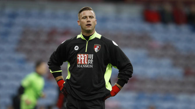 Bournemouth's Artur Boruc warms up before the match