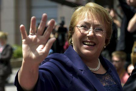 Chile's President Bachelet arrives at EU-CELAC Latin America summit in Brussels, Belgium