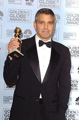 """George Clooney Best Supporting Actor in a Drama - """"Syriana"""" 63rd Annual Golden Globe Awards - Press Room Beverly Hills, CA - 1/16/06"""