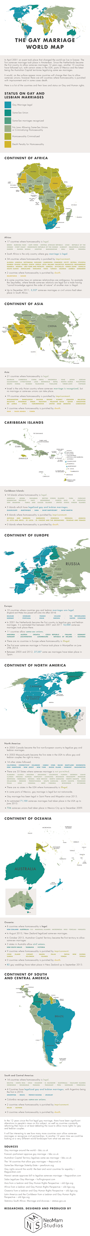 The Gay Marriage World Map [Infographic] image the gay marriage world map logo