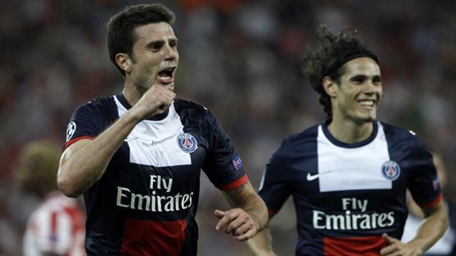 Champions League - Motta scores brace in PSG's win over Olympiakos