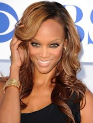Tyra Banks arrives at the 2012 TCA Summer Tour - CBS, Showtime And The CW Party at 9900 Wilshire Blvd., Beverly Hills, on July 29, 2012 -- Getty Images