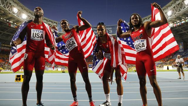 World Championships - USA bounce back from Olympic disappointment with relay gold