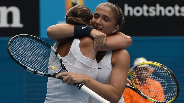 Australian Open - Errani and Vinci win doubles title for Italy