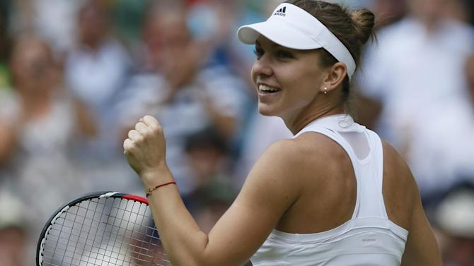Wimbledon - Halep marches into last four