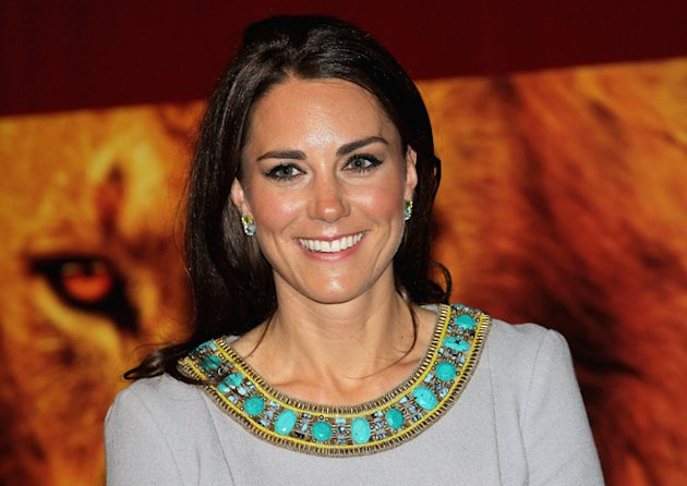 Kate Middleton Wears Matthew Williamson At The UK Premiere Of 'African Cats'