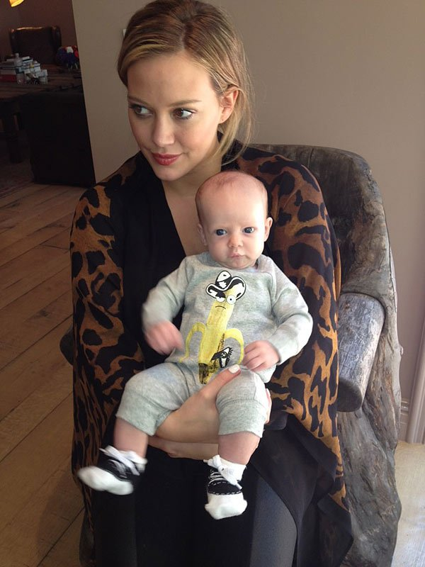 Hilary Duff Tweets Adorable Pic Of Baby Luca